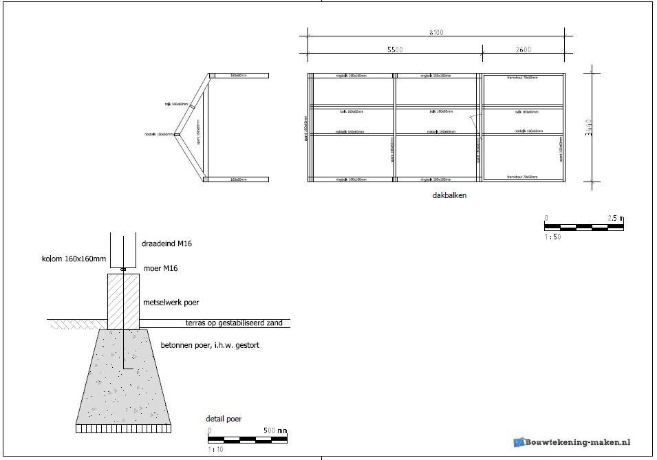 Voorbeeld detailtekening dak - Voorbeeld van een buitenzwembad ...