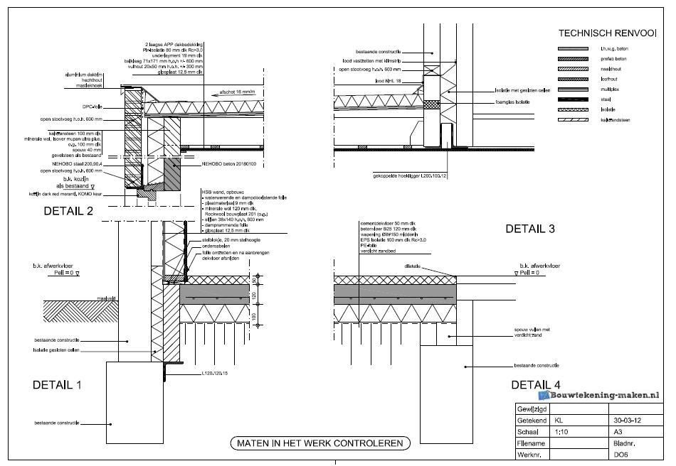 Meer informatie over de detailtekening of een detailtekening dakkapel ...