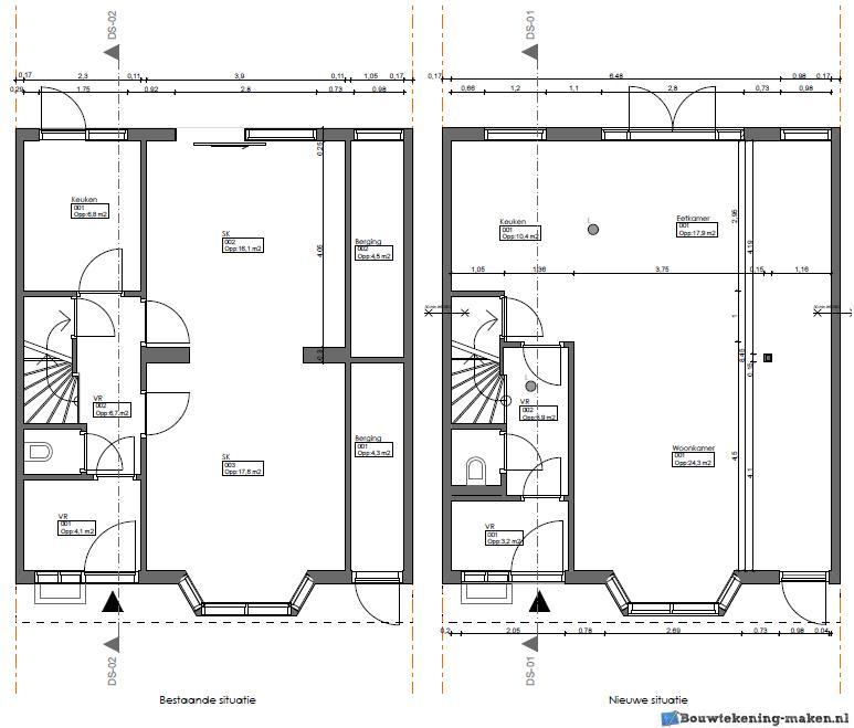 Voorbeeld plattegrond woning2 for Plattegrond woning indeling